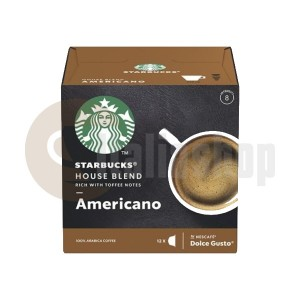 Starbucks House Blend Americano Κάψουλες Για Dolce Gusto - 12 Τεμ.