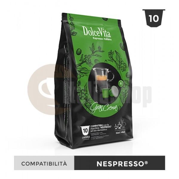 Dolce Vita Κάψουλες Συμβατές Για Nespresso Gran Crema - 10 Τεμ.