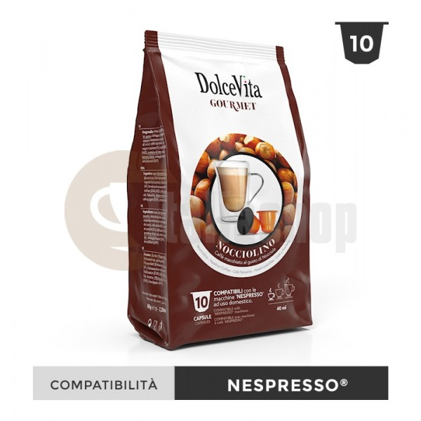 Dolce Vita Κάψουλες Συμβατές Για Nespresso Nocciolino - 10 Τεμ.