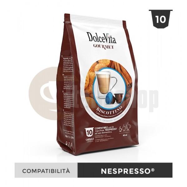 Dolce Vita Κάψουλες Συμβατές Για Nespresso Biscottone- 10 Τεμ.