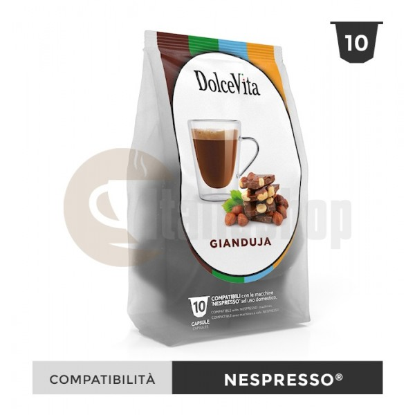 Dolce Vita Κάψουλες Συμβατές Για Nespresso Gianduja - 10 Τεμ.