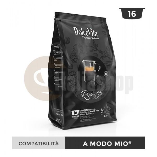 Dolce Vita Κάψουλες Συμβατές Για Lavazza A Modo Mio Ristretto - 16 Τεμ.