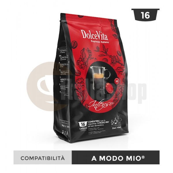 Dolce Vita Κάψουλες Συμβατές Για Lavazza A Modo Mio Intenso - 16 Τεμ.