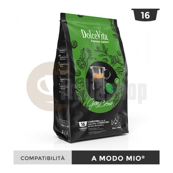 Dolce Vita Κάψουλες Συμβατές Για Lavazza A Modo Mio Gran Crema - 16 Τεμ.