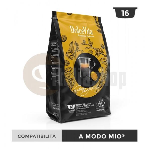 Dolce Vita Κάψουλες Συμβατές Για Lavazza A Modo Mio Gran Gusto - 16 Τεμ.