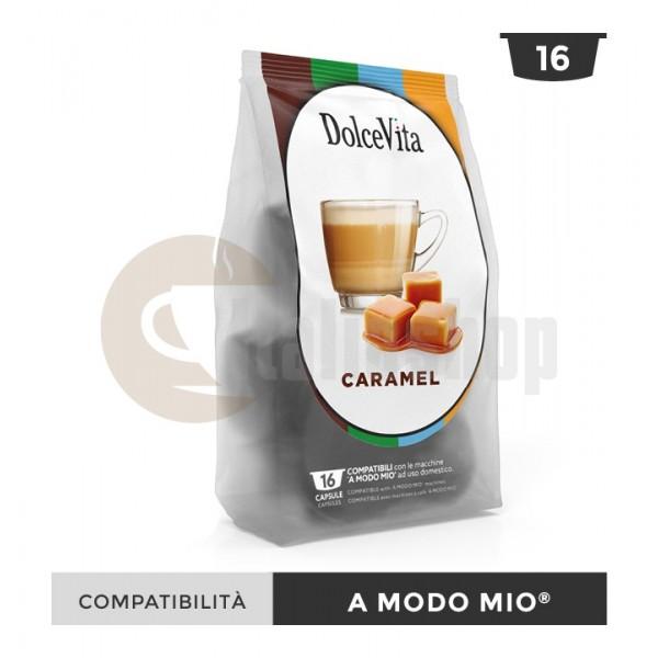 Dolce Vita Κάψουλες Συμβατές Για Lavazza A Modo Mio Caramelito - 16 Τεμ.