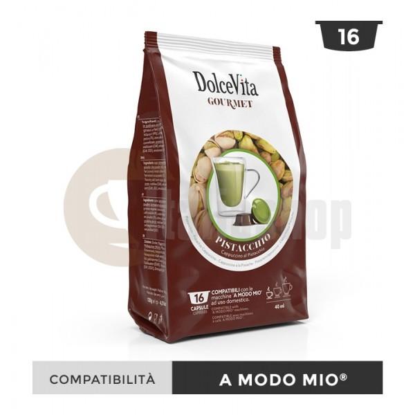 Dolce Vita Κάψουλες Συμβατές Για Lavazza A Modo Mio Pistacchio - 16 Τεμ.