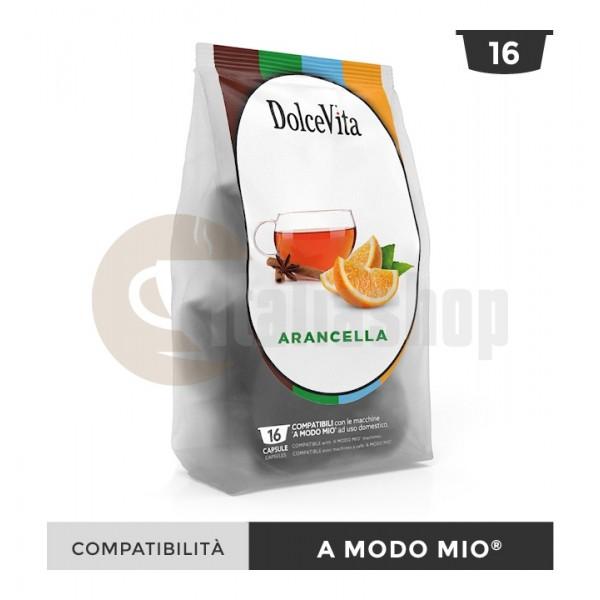 Dolce Vita Κάψουλες Συμβατές Για Lavazza A Modo Mio Arancella - 16 Τεμ.