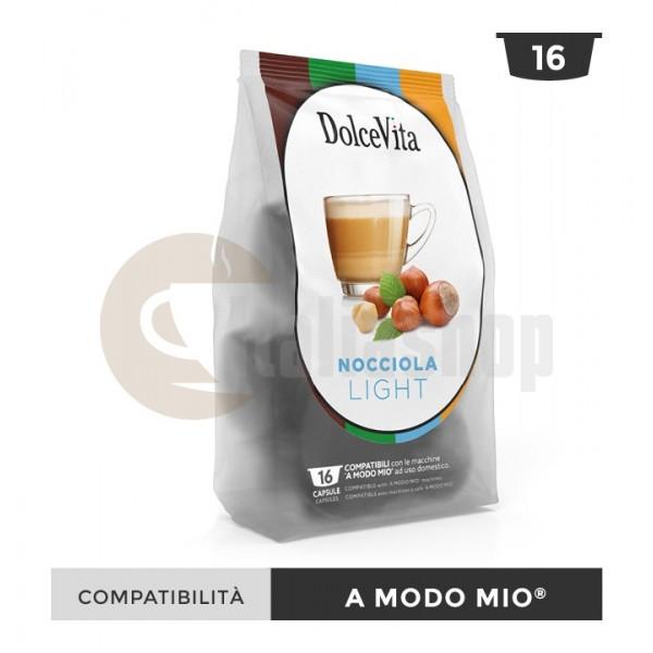 Dolce Vita Κάψουλες Συμβατές Για Lavazza A Modo Mio Nocciolino Light - 16 Τεμ.