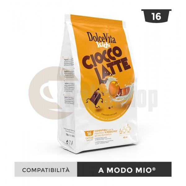 Dolce Vita Κάψουλες Συμβατές Για Lavazza A Modo Mio Ciocco Latte - 16 Τεμ.