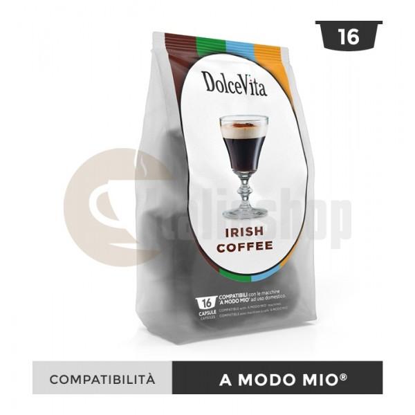 Dolce Vita Κάψουλες Συμβατές Για Lavazza A Modo Mio Irish Coffe - 16 Τεμ.