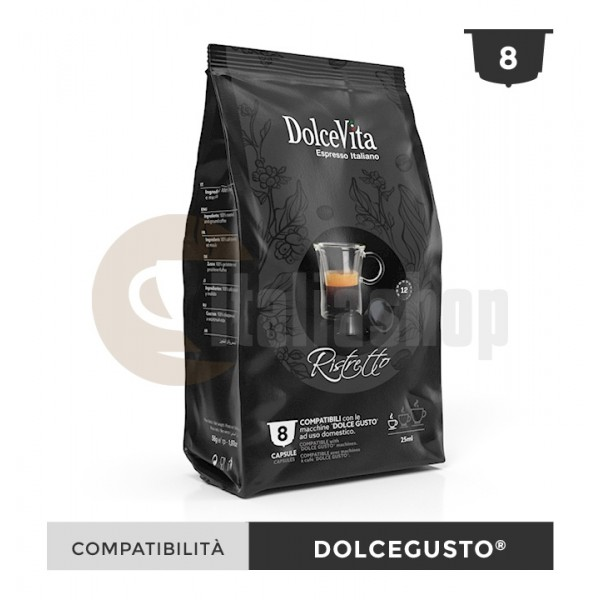 Dolce Vita Κάψουλες Συμβατές Για Dolce Gusto Ristretto - 8 Τεμ.