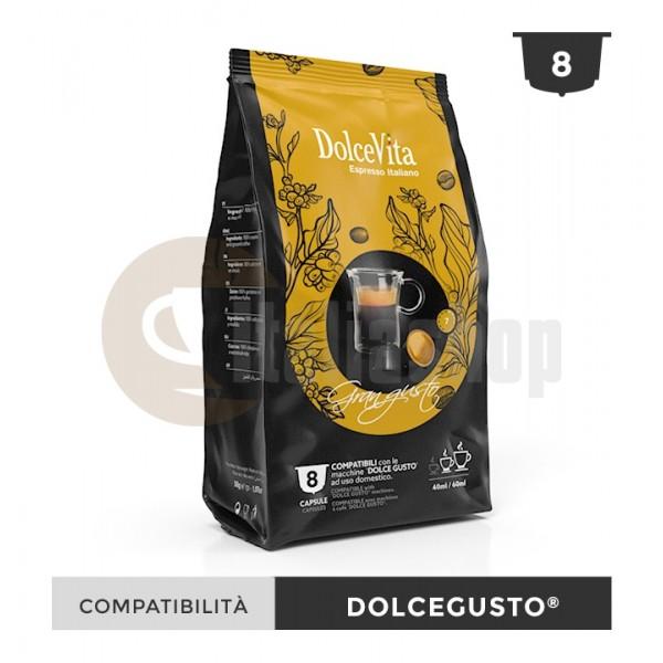 Dolce Vita Κάψουλες Συμβατές Για Dolce Gusto Gran Gusto - 8 Τεμ.
