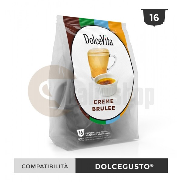 Dolce Vita Κάψουλες Συμβατές Για Dolce Gusto Creme Brulee - 16 Τεμ.