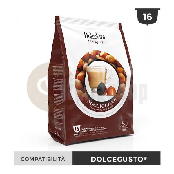 Dolce Vita Κάψουλες Συμβατές Για Dolce Gusto Nocciolino - 16 Τεμ.