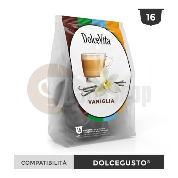 Dolce Vita Κάψουλες Συμβατές Για Dolce Gusto Vanillio - 16 Τεμ.