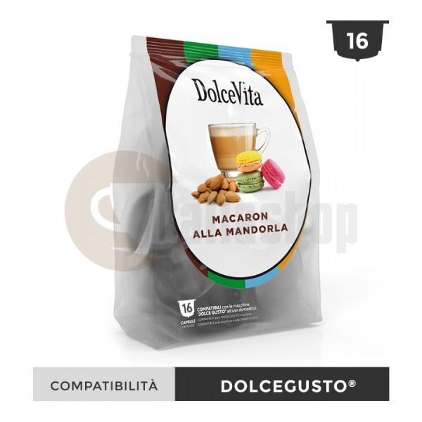 Dolce Vita Κάψουλες Συμβατές Για Dolce Gusto Macaron Mandorla - 16 Τεμ.