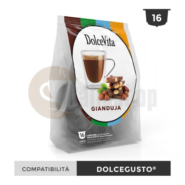 Dolce Vita Κάψουλες Συμβατές Για Dolce Gusto Gianduja - 16 Τεμ.