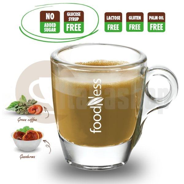 Foodness Συμβατές Κάψουλες Dolce Gusto Caffè Verde & Ganoderma 50 Τεμ.