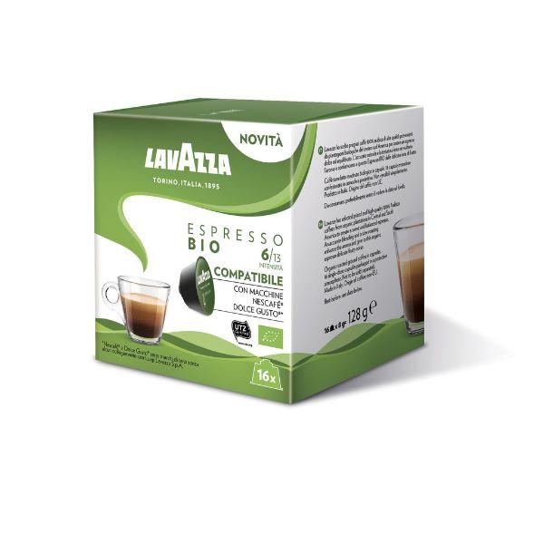 Lavazza Συμβατές Κάψουλες Για Dolce Gusto Espresso BIO - 16 Τεμ.