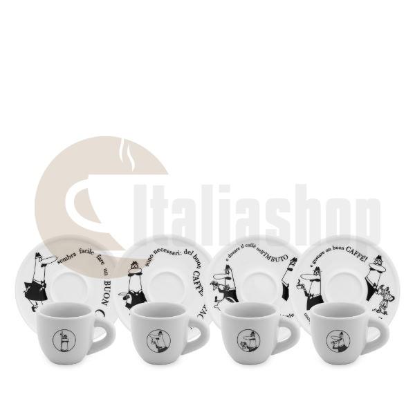 Bialetti Carosello Σετ Φλιτζάνια Espresso - 4 Τεμ.