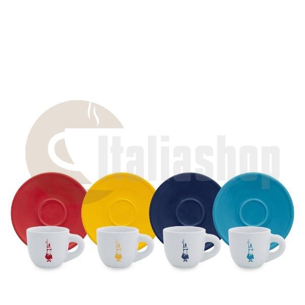 Bialetti Moka Color Σετ Φλιτζάνια Espresso - 4 Τεμ.
