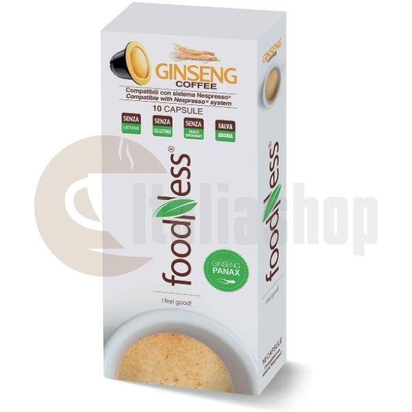 Foodness Συμβατές Κάψουλες Για Nespresso Καφέ με Ginseng 10 Τεμ.