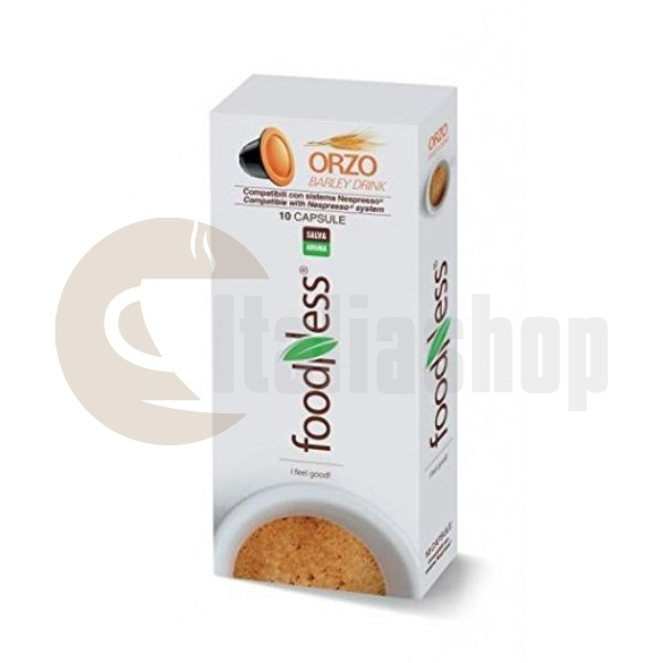 Foodness Συμβατές Κάψουλες Για Nespresso Orzo 10 Τεμ.
