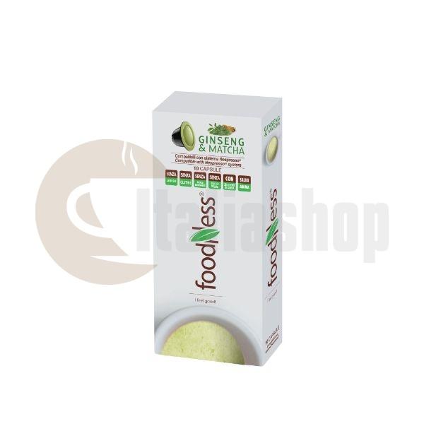 Foodness Συμβατές Κάψουλες Nespresso Ginseng & Matcha Coffee