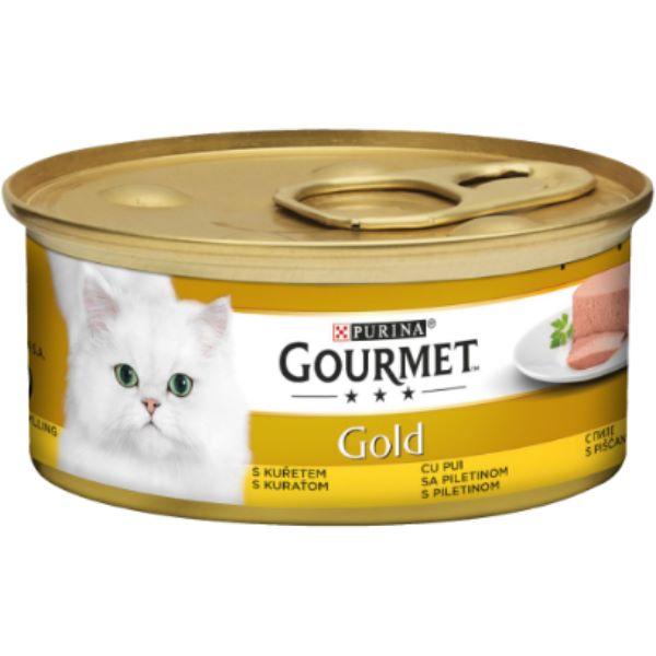 Γατοτροφή Gourmet® Gold Πατέ με Κοτόπουλο