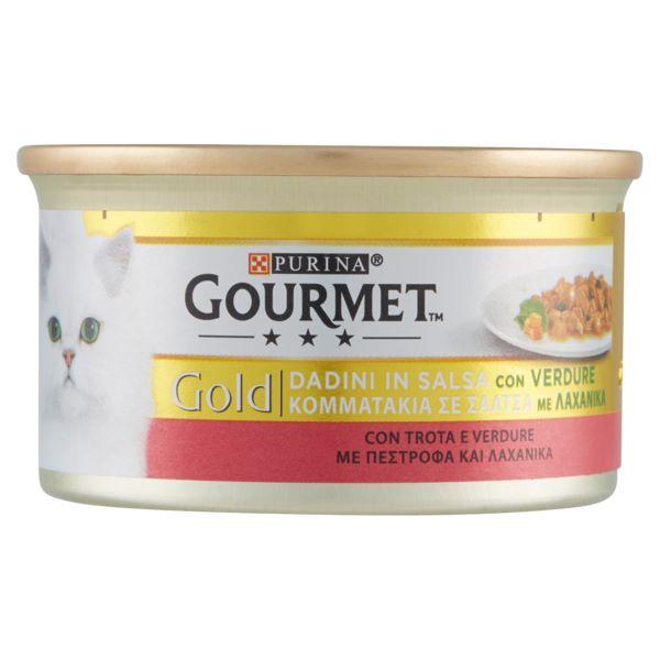 Γατοτροφή Gourmet® Gold Πατέ με Πέστροφα και Λαχανικά