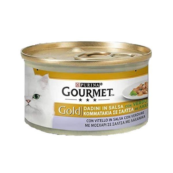 Γατοτροφή Gourmet® Gold Κοματάκια με Μοσχάρι και Λαχανικά