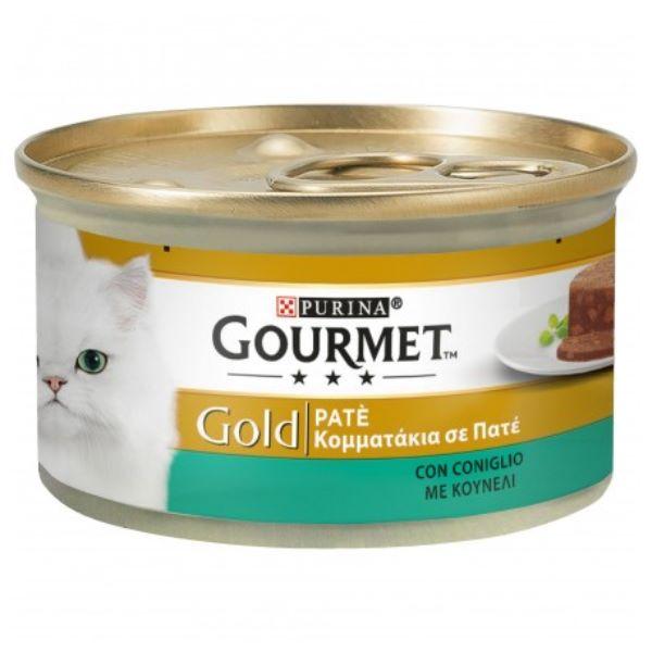 Γατοτροφή Gourmet® Gold Πατέ με Κουνέλι