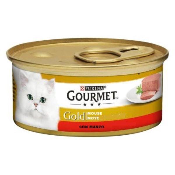 Γατοτροφή Gourmet® Gold Πατέ με Βοδινό Κρέας