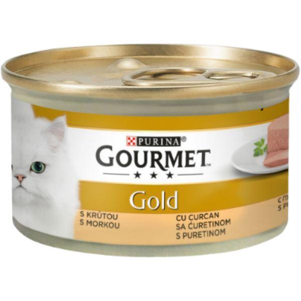 Γατοτροφή Gourmet® Gold Πατέ με Γαλοπούλα