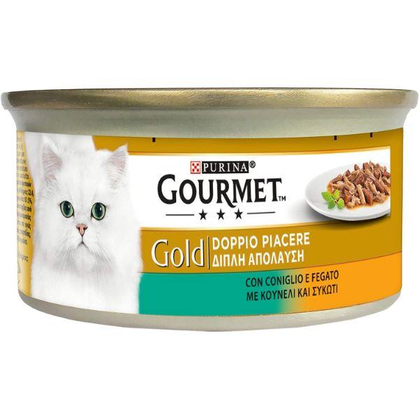 Γατοτροφή Gourmet® Gold Κοματάκια σε Σάλτσα με Κουνέλι και Συκώτι