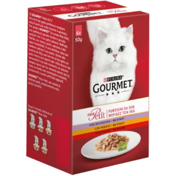 Γατοτροφή Gourmet® Mon Petit με Βοδινό Κρέας, Μοσχάρι και Αρνί
