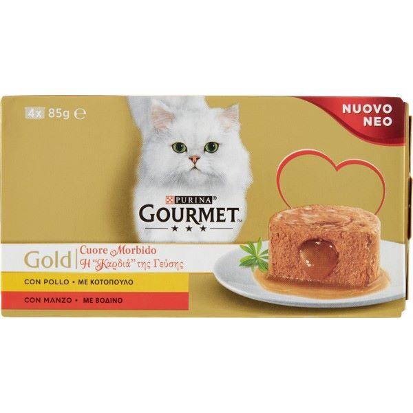 Γατοτροφή Gourmet® Gold Μπουκίτσες σε Σάλτσα με Βοδινό Κρέας και Κοτόπουλο