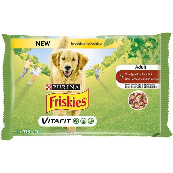 Σκυλοτροφή Friskies® Adult VitaFit Multipack, Κομματάκια σε Σάλτσα με Αρνί και Καρότα