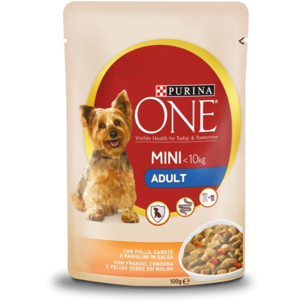 Σκυλοτροφή Purina One Mini <10kg Adult με Κοτόπουλο και Καρότα