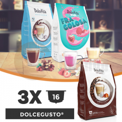 Dolce Vita Compatible Capsules For Dolce Gusto - 3 packages x 16 pcs.