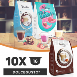 Dolce Vita Compatible Capsules For Dolce Gusto - 10 packages x 16 pcs.