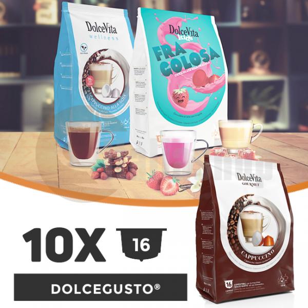 Dolce Vita Κάψουλες Συμβατές Για Dolce Gusto - 10 πακέτα x 16 τμ.