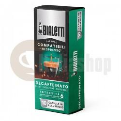 Bialetti Συμβατές Κάψουλες γιαNespresso Decaffeinato 10 pcs