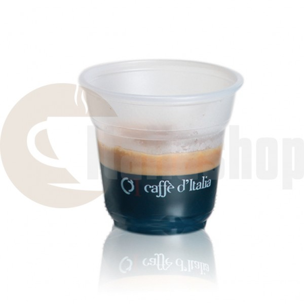 Caffè Ditalia Πλαστικά Μικρά Ποτήρια