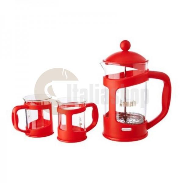 Bialetti Σετ Καφετιέρα Φίλτρου - Τσαγιέρα Χειρός με 2 Φλιτζάνια  - Κόκκινο